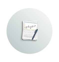 Pen and chart vector image