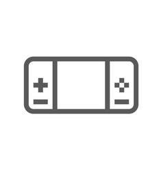 portable game console line icon vector image