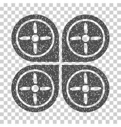 Quadrocopter Grainy Texture Icon vector