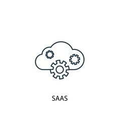 saas concept line icon simple element vector image