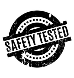Safety tested rubber stamp vector