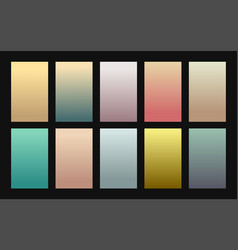 Set gradient backgrounds vintage color vector