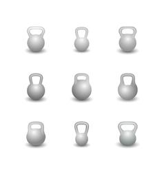 Set kettlebells vector