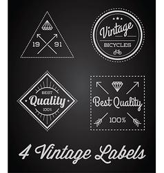 Set of 4 of Vintage Retro Style Premium Design vector