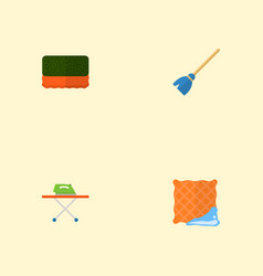 set of hygiene icons flat style symbols with vector image