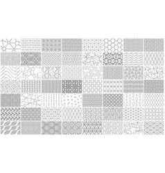 set of linear seamless geometric pattern vector image
