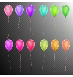 Set of Twelve colorful balloons EPS 10 vector image