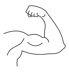 Strong hand muscle icon simple style vector image