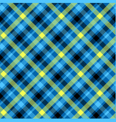 tartan blue color seamless pattern vector image