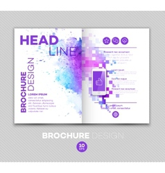 Template for brochure vector image