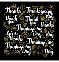 Thanksgiving Day Calligraphy Design vector