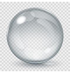 Transparent glass sphere vector image