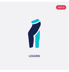 Two color leggins icon from clothes concept vector
