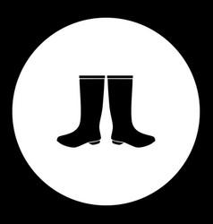 Two galosh simple silhouette black icon eps10 vector