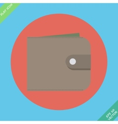 Wallet with money - vector image