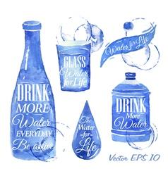 Watercolor water vector image
