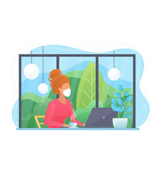 work at home during covid-19 quarantine virus vector image