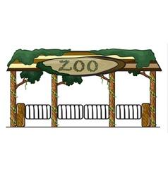 Zoo entrance vector