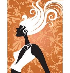 fashion hair vector image vector image