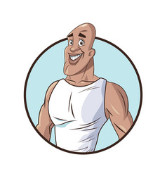 healthy man muscular fitness vector image