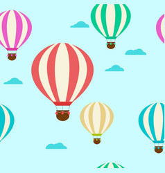 pattern with balloons balloons vector image vector image