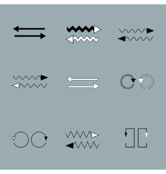 Set of arrows on grey backround vector image vector image
