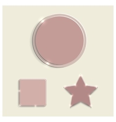 Set of glass elements vector image vector image
