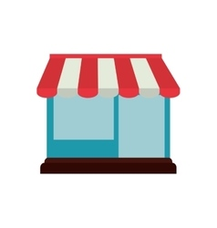 Shopping online store building graphic vector