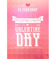 Valentine triangle background Disco poster vector image