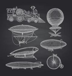 dirigibles vector image
