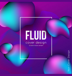fluid shapes background vector image
