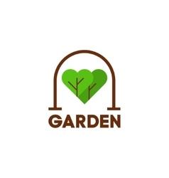 I love garden concept slogan vector image