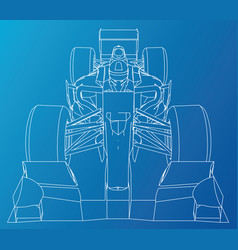 Model speed car abstract drawing tracing vector