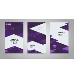 Three abstract business banner backgrounds vector image