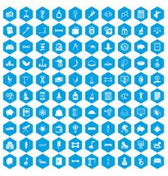 100 balance icons set blue vector