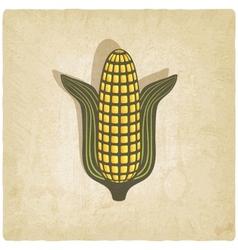 Corn symbol on old background vector image