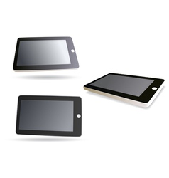 isolated tablet computer - set vector image vector image