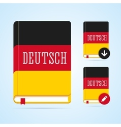 Deutsch book with download and edit vector image
