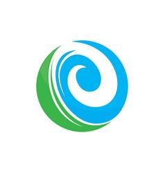 leaf round ecology logo image vector image vector image
