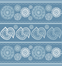 mandala patterns hand painted background vector image