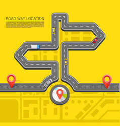 road direction paved path on the road vector image vector image