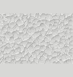 swollen peeling old paint on the wall with cracks vector image
