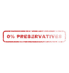 0 percent preservatives rubber stamp vector