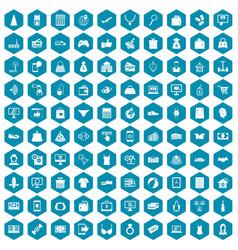100 online shopping icons sapphirine violet vector image