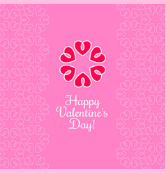 14 february valentines day card or poster vector image
