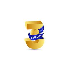 3 year warranty logo icon template design vector