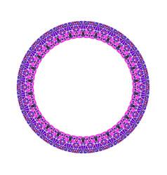 Abstract triangular mosaic frame - round circular vector