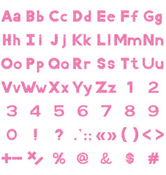 alphabet numbers and signs valentine vector image