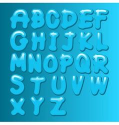 Aqua font vector