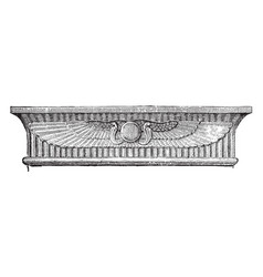 Architrave of entablature over doorway great vector